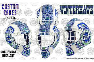 WINTERHAWK Goalie Mask Vinyl Decal Set