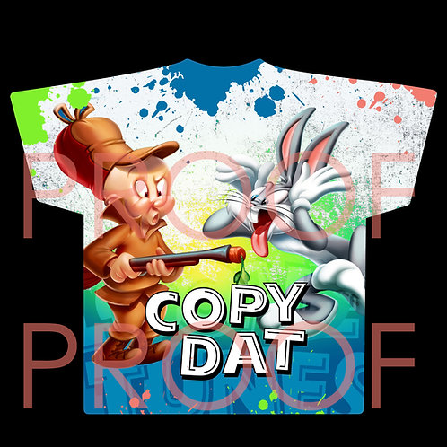 """COPY DAT"" ALL OVER T-SHIRT DESIGN"