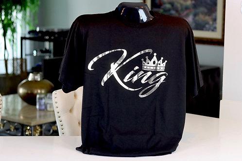 "Kingology ""KING"" Silver Foil T-shirt"