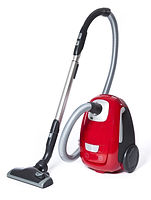 Red Vacuum Cleaner isolated on white bac
