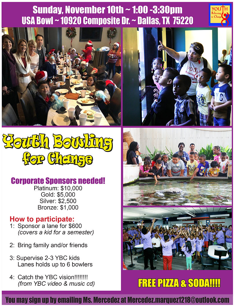Youth Bowling for Change Flier-Corporate