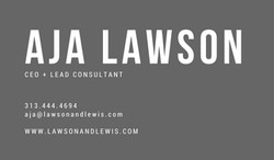 Lawson + Lewis Business Card