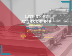 Late Night at the Church Flyer