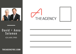 The Agency Postcard (back)