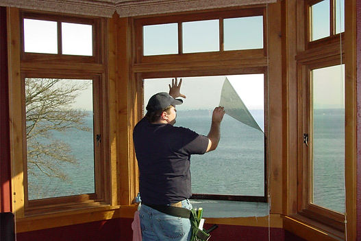 man window tinting a home in Bethesda Maryland