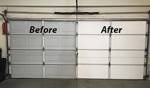 before and after of washington dc garage insulation