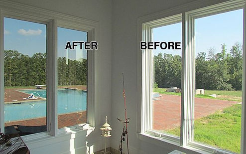 before and after window tinting Bethesda Maryland