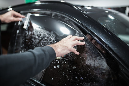 repairing a bubbly car window tinting in Bethesda Maryland