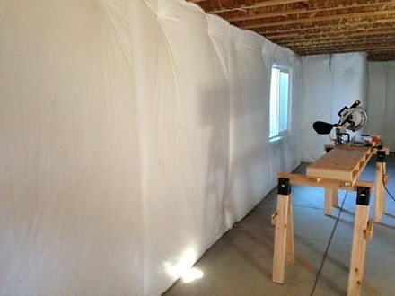 Completed basement insulation in washington DC wall