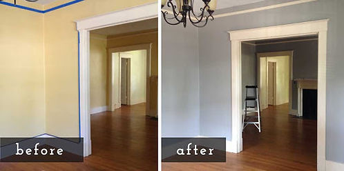 before and after interior painting in Ge