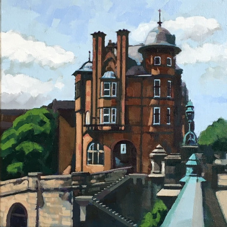 'Caledonian_Mansions,_Glasgow'_Oil_on_ca