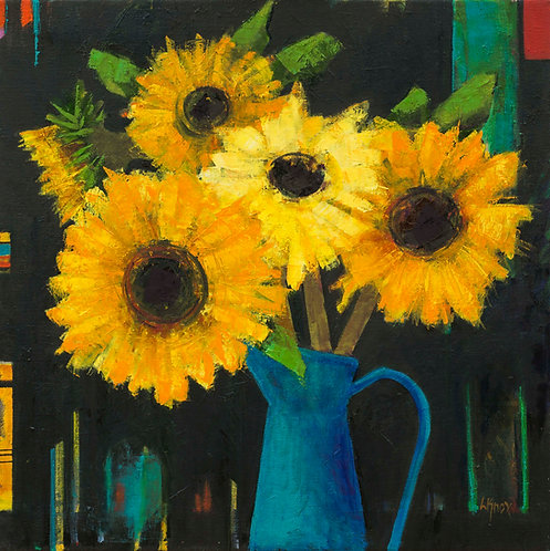 'Late Sunflowers' by Liz Knox
