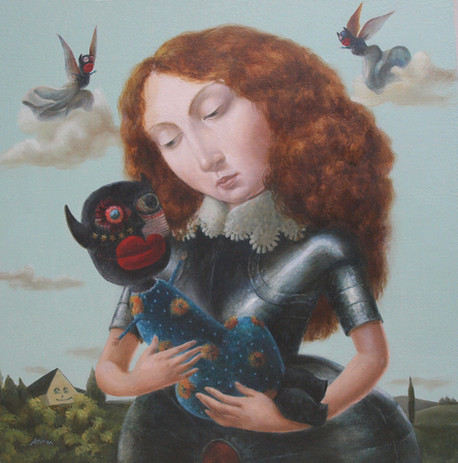 'CHILD_OF_THE_KNIGHT'_Oil_on_Board_£2,5