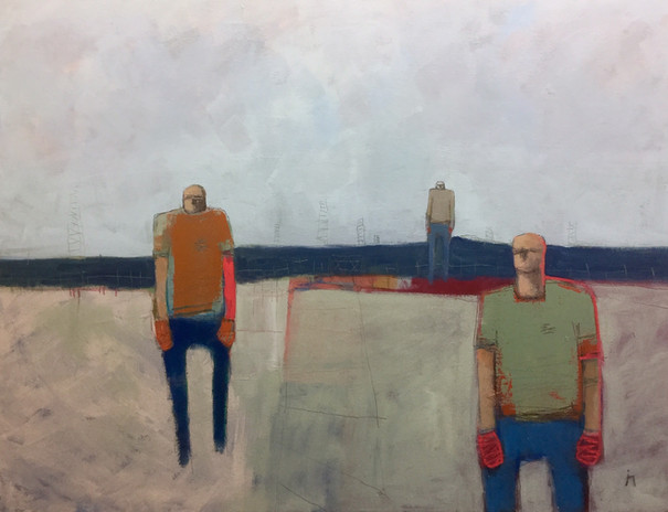 '3_Figures_Wandering'_Oil_on_Canvas_£1,