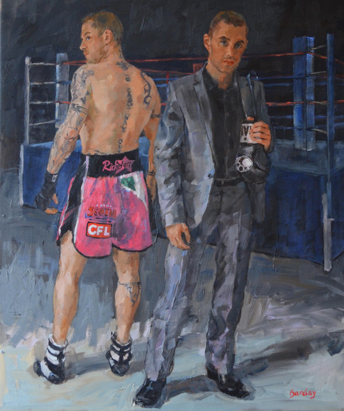 "Ricky Burns Portrait 36"" x 30"""