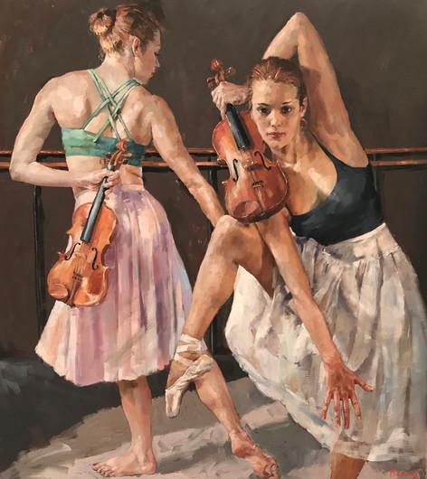 "Violin Dance 40"" x 36"""