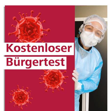 """INFOS ZUM """"KOSTENLOSEN"""" BÜRGERTEST"""