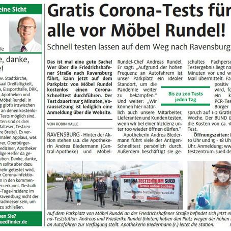 GRATIS CORONA-TESTS ...