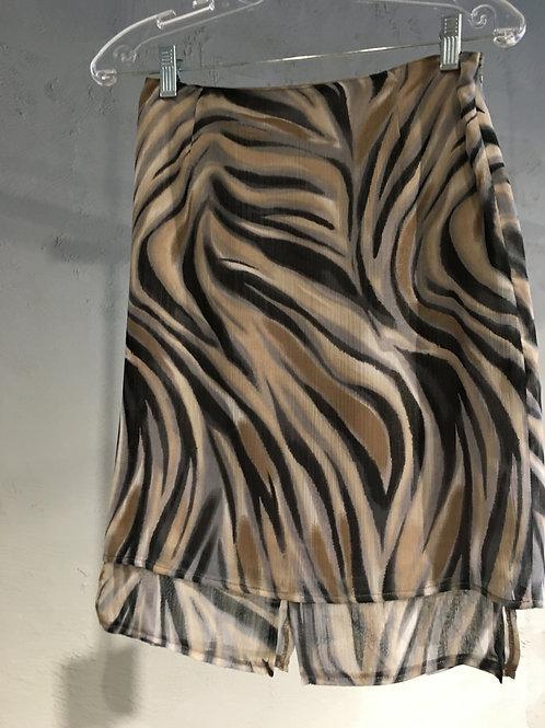 8509-3 Jupe courte doublée en mousseline de polyester noir/café/gris