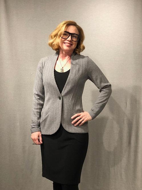 R392 veste tricot avec poches gris perle