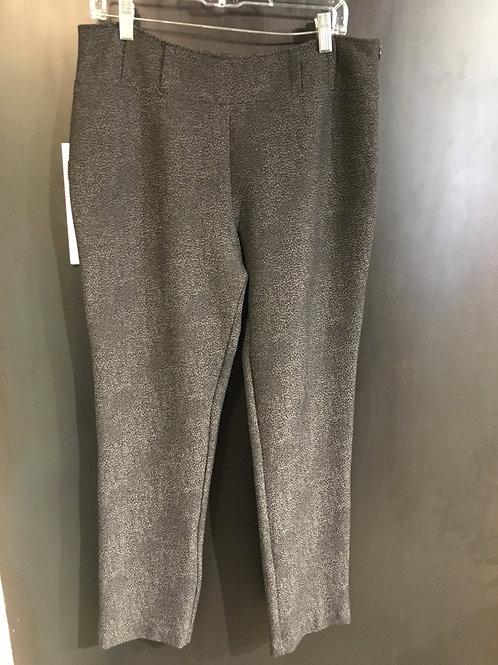 K256-13 pantalon étroit craquelé argenté noir