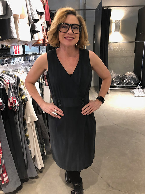 N655 Robe porte-feuille anthracite