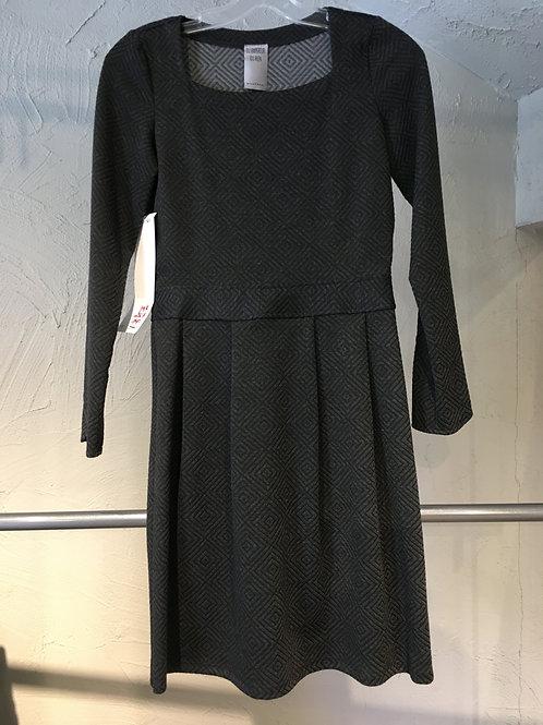 K160-TP Robe à plis texturée charbon