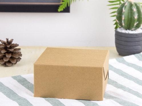 กล่องสแน๊ค/จัดเบรก กระดาษคราฟ 12.7 cm (แพ๊ค100)