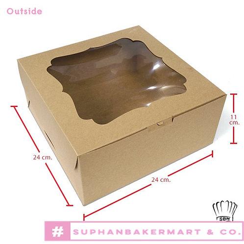 กล่องเค้ก 2 ปอนด์คราฟท์ มีหน้าต่าง