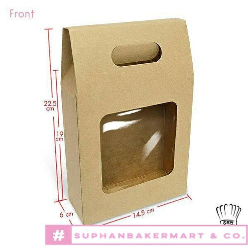 กล่องจัด Gift set ทรงถุง 7.5 นิ้ว คราฟท์