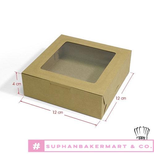 กล่องขนมเปี๊ยะ 5 ชิ้น มีหน้าต่าง คราฟท์