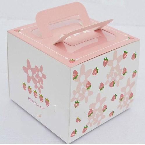 กล่องเค้กครึ่งปอนด์ลายสตอร์เบอร์รี่