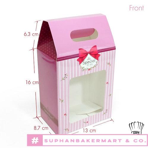 กล่องจัด Gift set ทรงถุง 7.5 นิ้ว สีชมพูเข้ม