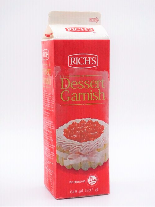 ริช Dessert Garnish