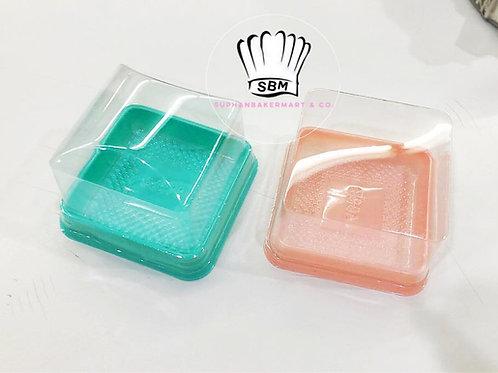 กล่องพลาสติกฐานสีพาสเทล