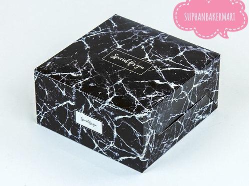 กล่องสแน๊ค/จัดเบรค ลายหินอ่อนสีดำ