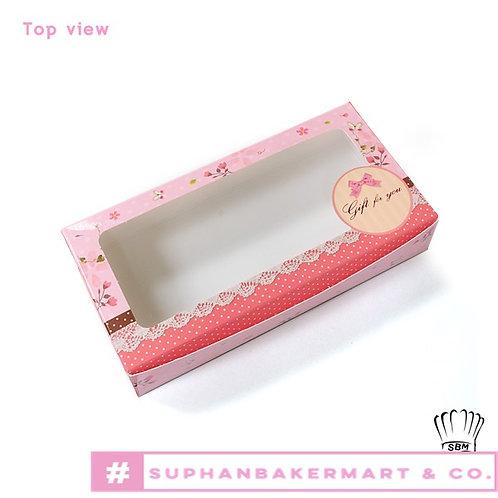 กล่องบราวนี่เล็กลายโบว์สีชมพู