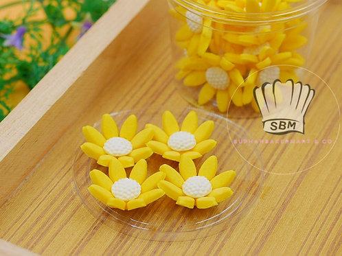 ดอกไม้น้ำตาลปั้น สีเหลือง