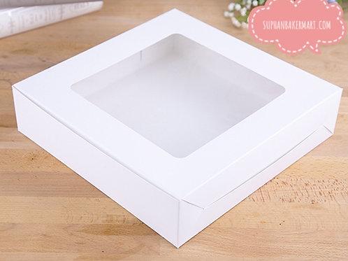 กล่องเค้ก 3 ปอนด์ ขาว (ทรงเตี้ย )