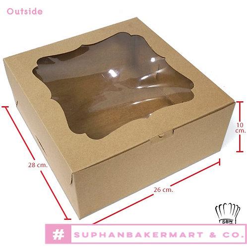 กล่องเค้ก 3 ปอนด์คราฟท์ มีหน้าต่าง