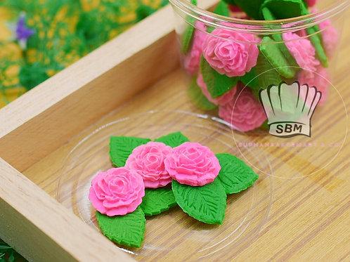 ดอกกุหลาบน้ำตาล (เลือกสีด้านใน)
