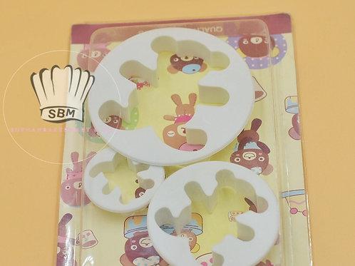พิมพ์กดคุกกี้/ฟองดอง ลายหมี 3 ชิ้น