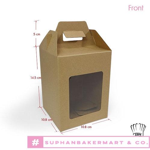 กล่องจัด Gift set ทรงเหลี่ยม คราฟท์ 5.5 นิ้ว
