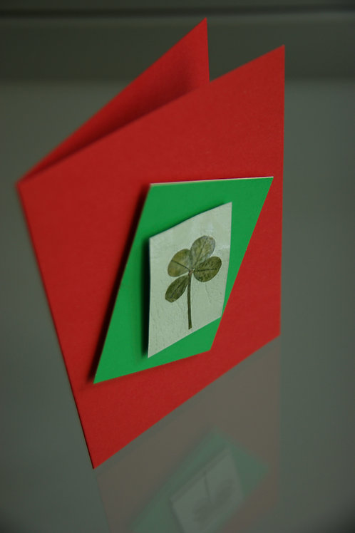 Card with four-leaf clover