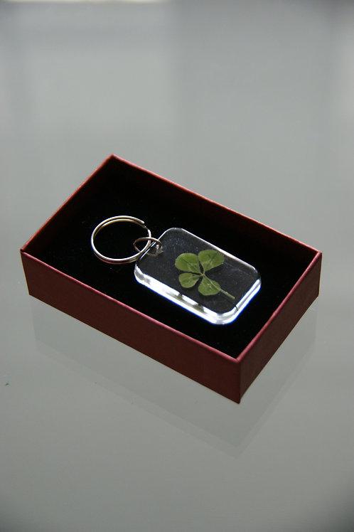 4-leaf clover key ring