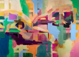 Fragmentation of Yesterday and Tomorrow, Oil on Canvas, 50x70in