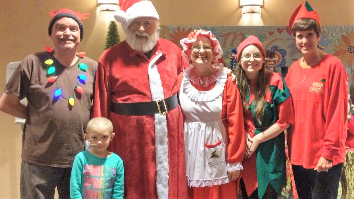 Taking Santa to RMH Dallas