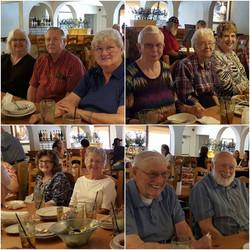 Senior Saints at Olive Garden