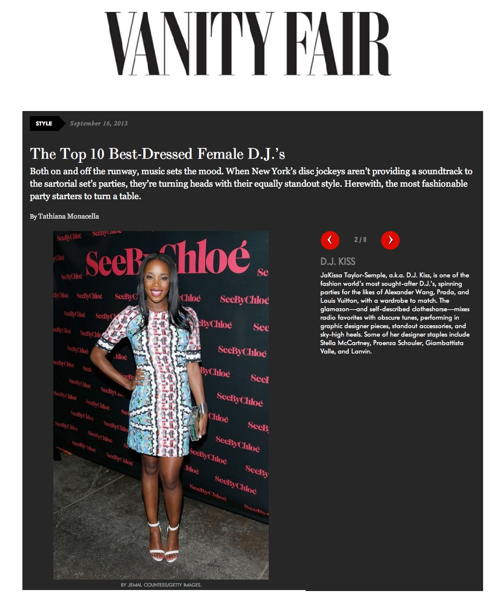Vanity Fair - Best Female Dressed DJs