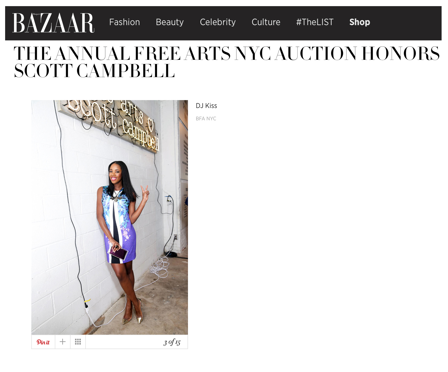 Harper's Bazaar - Free Arts Auction